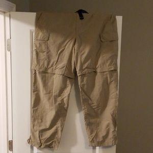 Eddie Bauer Convertible Khaki Pants/shorts